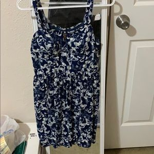Dresses & Skirts - Never worn blue and white dress with butterflies